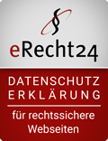 eRecht-Siegel - Datenschutzeklärung mit dem eRecht24-Generator erstellt by blumhoff-media.com (Agenturmitglied)